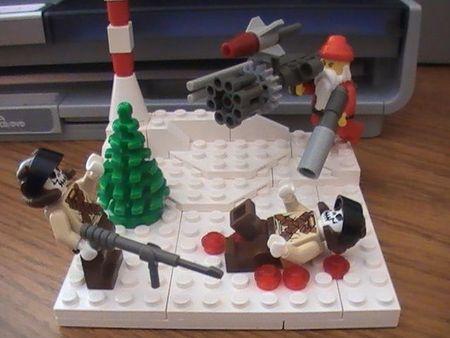 Santa claus kicks