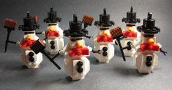 6 snowmen