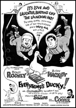 Everythings ducky bw poster