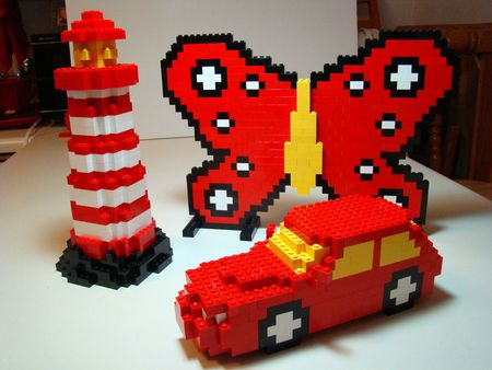 Lighthouse butterfly and car
