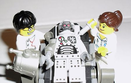 Robot and nurse by vader