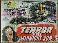 Terror in the midnight sun landscape poster