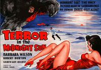 Terror in the midnight sun landscape poster