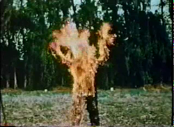 Curse of bigfoot -thing on fire