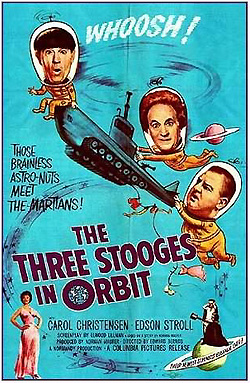 Three stooges in orbit poster