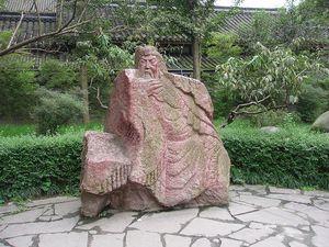 The lost bladesman guan statue