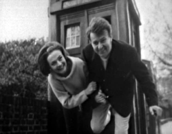 Doctor who 16 barbara and Ian romping