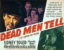 Dead men tell poster