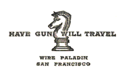 Have gun will travel card