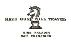 Have gun will travel card