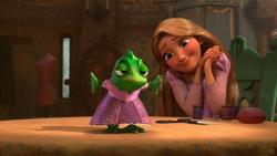 Tangled frog humiliated
