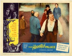 The haunted palace lobby card a