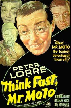 Think Fast Mr Moto Film Poster