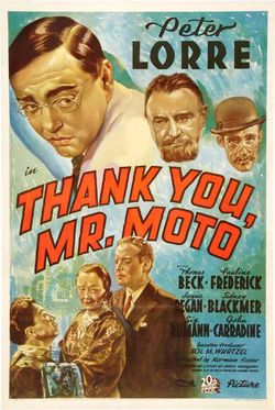 Thank you mr moto poster