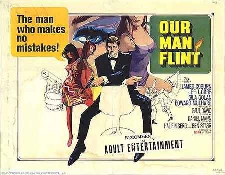 Our man flint poster