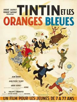 Tintin blue oranges