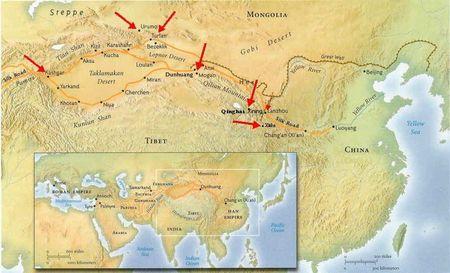 Dunhuang, Gansu, China map