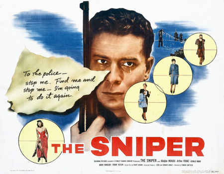 The sniper 1952 hor poster'