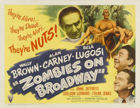 Zombies on broadway poster