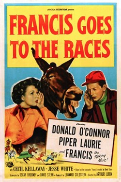 Francis goes to the races 1951 poster