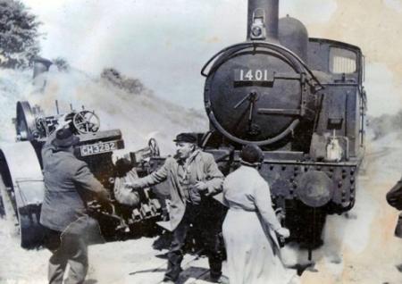 The titfield thunderbolt steam roller fight