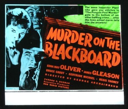 Murder On A Blackboard 1934 a