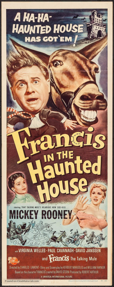 Francis in the haunted house tall psoter
