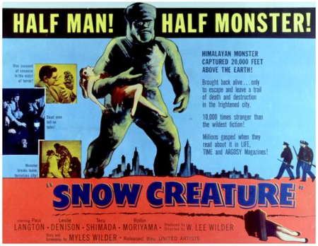 The snow creature 1966 b