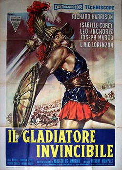 Invincible gladiator 1962