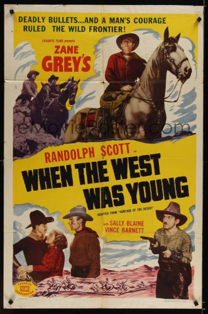 When the west was young 1932 e