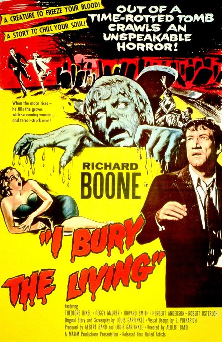I Bury The Living 1958 poster a