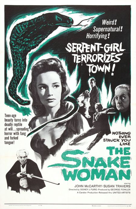 The Snake Woman 1961 poster
