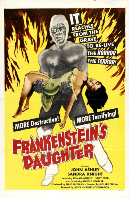 Frankensteain's daughter poster