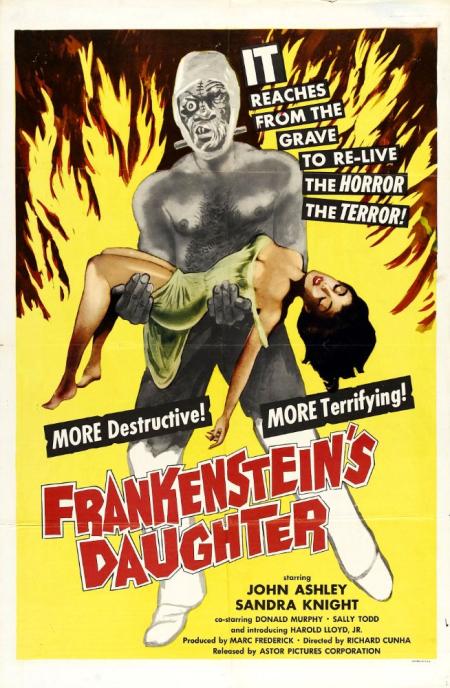 Frankensteain's daughter poster