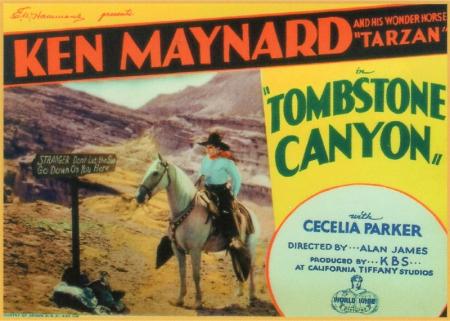 Tombstone-canyon-1932-lobby-card-ken-maynard-tarzan