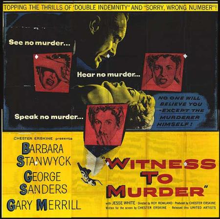 WITNESS TO MURDER 1954 g