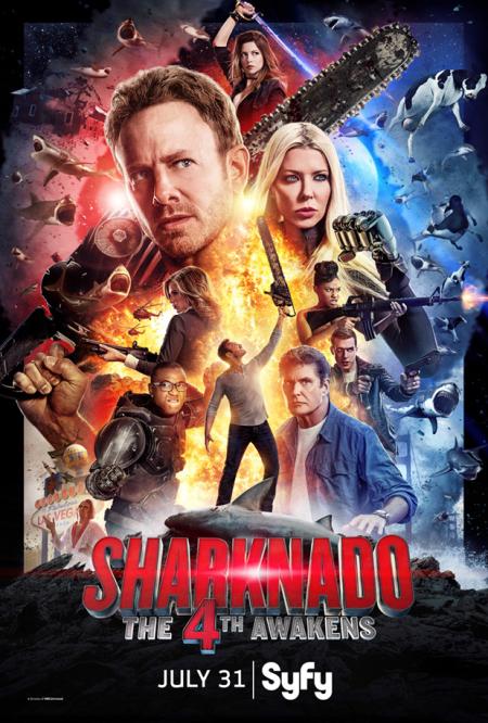 Sharknado The 4th Awakens 2016 poster