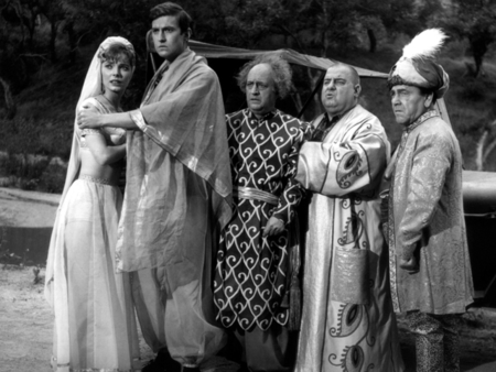 The Three Stooges Go Around The World In A Daze cast