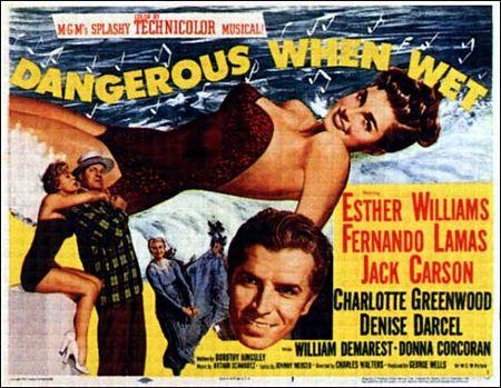 Dangerous when wet hor poster