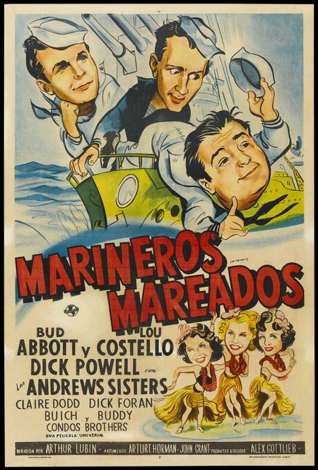 In the navy 1941 foreign poster