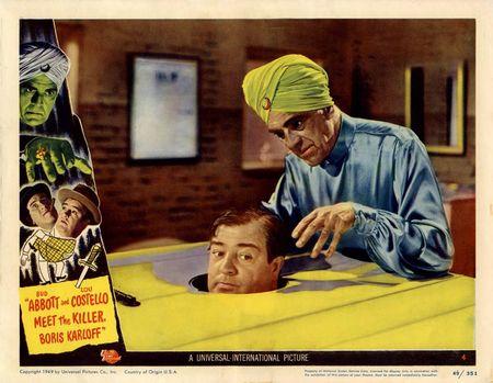 Abbott And Costello Meet The Killer Boris Karloff 1949 lobby