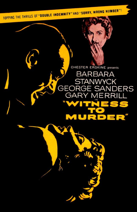 WITNESS TO MURDER 1954 f