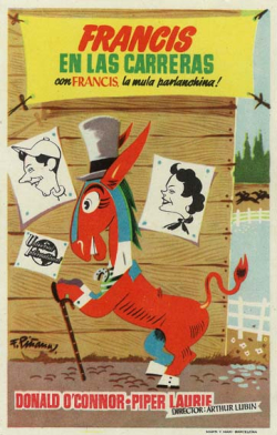 Francis goes to the races 1951 poster foreign
