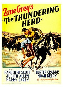 Buffalo stampede The_Thundering_Herd_1933_Poster