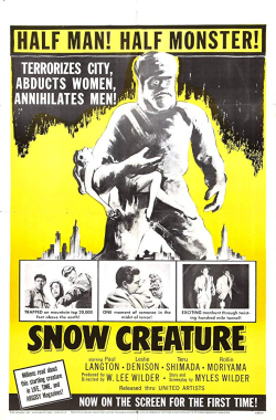 The Snow Creature 1954 b
