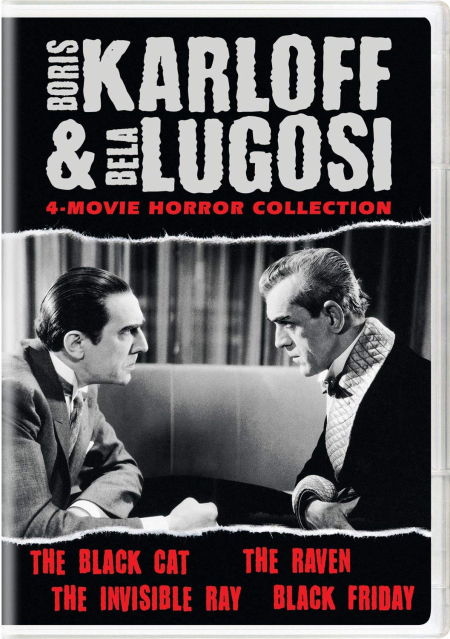 Boris karloff and bella lugosi 4 movie horror coll