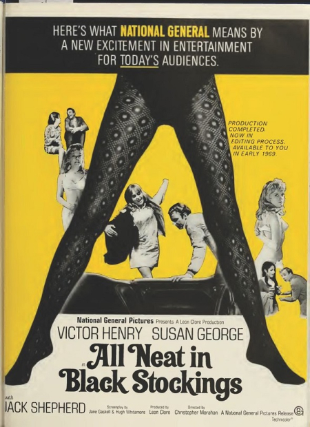 All neat in black stockings 1969 f