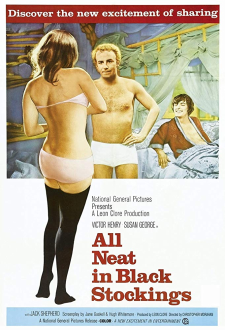 All neat in black stockings 1969