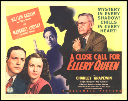A Close Call for Ellery Queen 1942