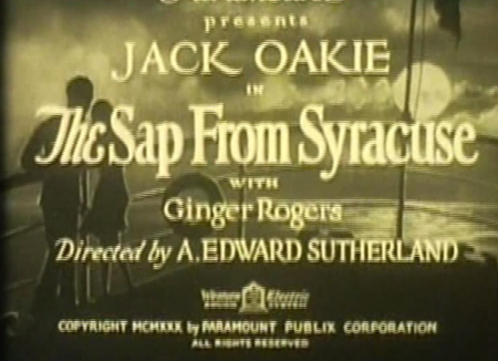 The Sap From Syracuse 1930